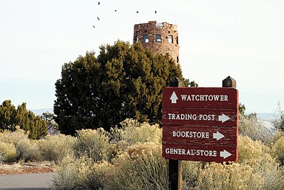 Desert View Watchtower on the South Rim of Grand Canyon National Park. (Loretta Yerian/WGCN)