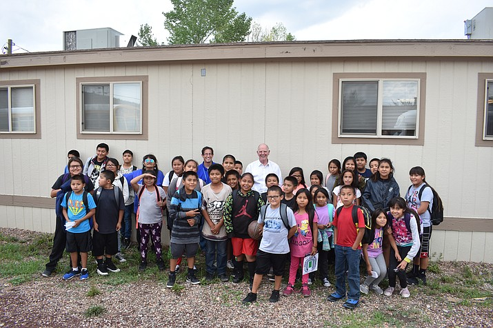 U.S. Rep. Tom O'Halleran visits school children in Cibecue, Arizona during a recent visit to the Navajo and Hopi nations. (Photo/courtesy of Congressman Tom O'Halleran)
