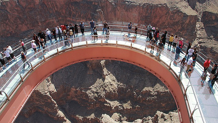Grand Canyon West, home of the Skywalk pictured above, remains open to visitors. (Daily Miner file photo)