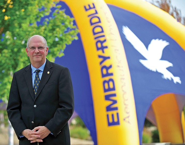 Dr. Frank Ayers, chancellor of the Prescott campus Embry-Riddle Aeronautical University, will step down from his duties in May and relocate to the ERAU Daytona, Florida, campus to teach graduate and undergraduate courses. (ERAU/Courtesy)