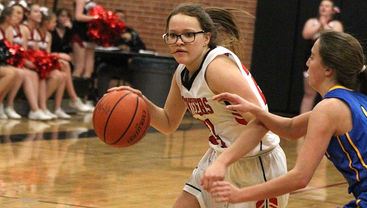 Liberty Cronk tallied 10 points Tuesday as the Lady Vols won their fourth straight in a 40-32 victory over Mohave. (Daily Miner file photo)