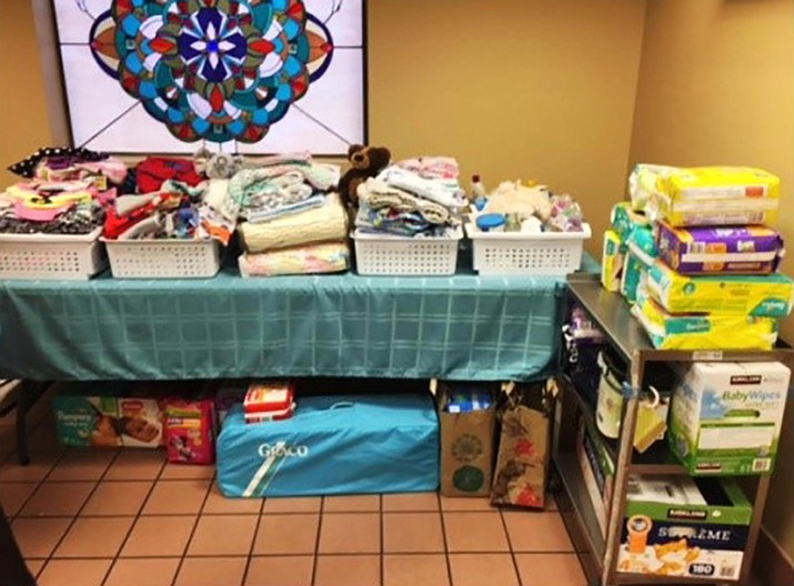 Donations from women at the WOW (Women of Wisdom) Bible Study at the American Lutheran Church overflowed and gave a huge boost to the new Baby Store at the Community Pregnancy Center. (CPC/Courtesy)