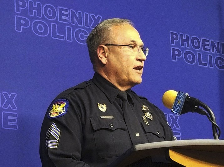 Phoenix Police spokesman Tommy Thompson speaks at a news conference, Wednesday, Jan. 9, 2019, in Phoenix, about the investigation of a woman at a long-term care facility who gave birth. The Phoenix woman, who is in a vegetative state and was sexually assaulted at the facility and had a baby, is recovering at a hospital along with her child, authorities said. (Terry Tang/AP)