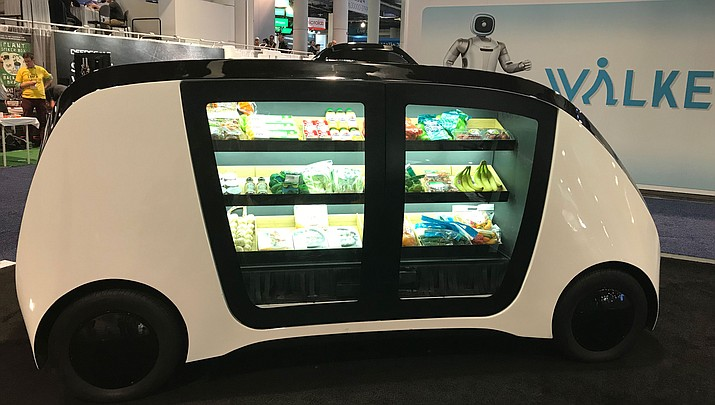 CES is the four-day consumer electronics show in Las Vegas. Robomart had their driverless grocery store on display this year, as seen above. (Courtesy photo by Shane Sexton)