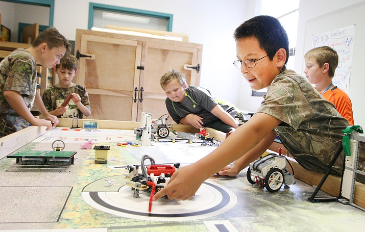 Peggy Dickey said that robotics, pictured, has been a popular program since the beginning of Camp Verde Unified's Friday Camps programs. VVN/Bill Helm