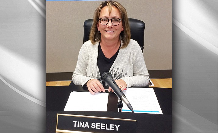 Tina Seeley, a veteran member, is serving her second stint as Prescott Unified School District Governing Board president. Scott Hicks will serve as her vice-president. (Nanci Hutson/Courier)