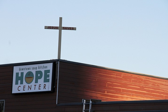 This Nov. 1 file photo shows the Hope Center women's shelter in downtown Anchorage, Alaska. (Mark Thiessen/AP)