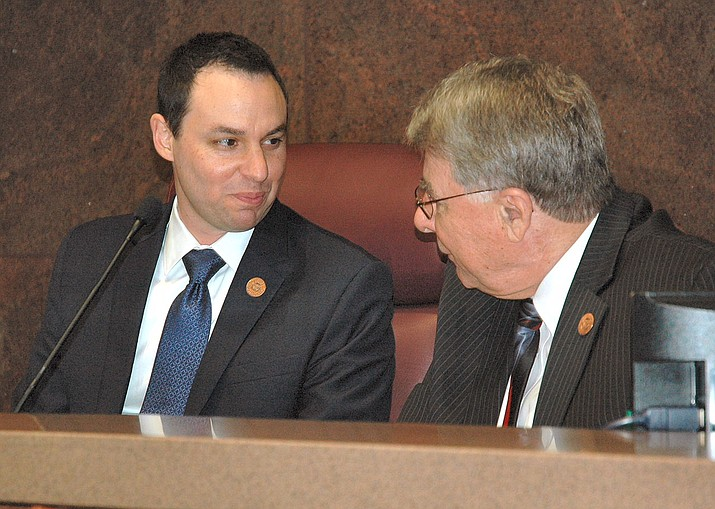 House Speaker J.D. Mesnard and Senate President Steve Yarbrough (Howard Fischer, Capitol Media Services 2018 file photo)