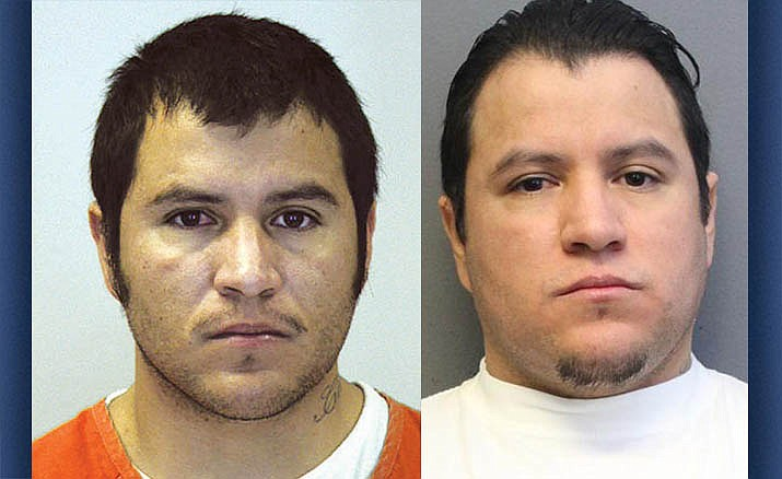 Julio Cesar Garcia-Soto (left) at the time of his arrest for the murder of his infant son in 2008. Right, Garcia-Soto today, 11 years later. He will be sentenced Tuesday. YCSO photos