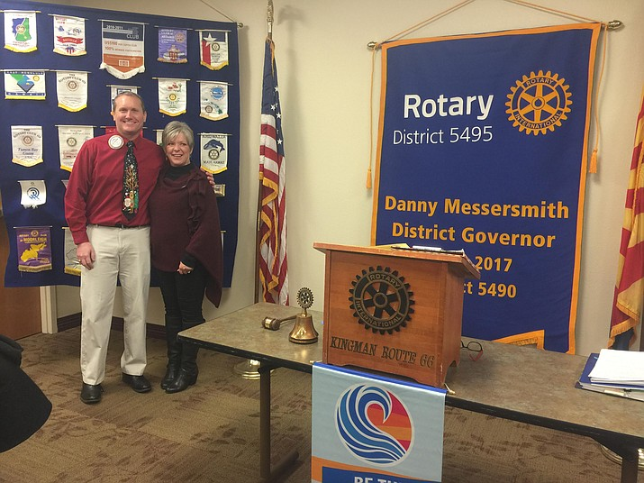 Speaking at Kingman Route 66 Rotary Club's Dec. 14 meeting was KRMC Chief Operating Officer and fellow club member, Ryan Kennedy. With 1,900 employees, Kingman Regional Medical Center is Mohave County's largest employer.