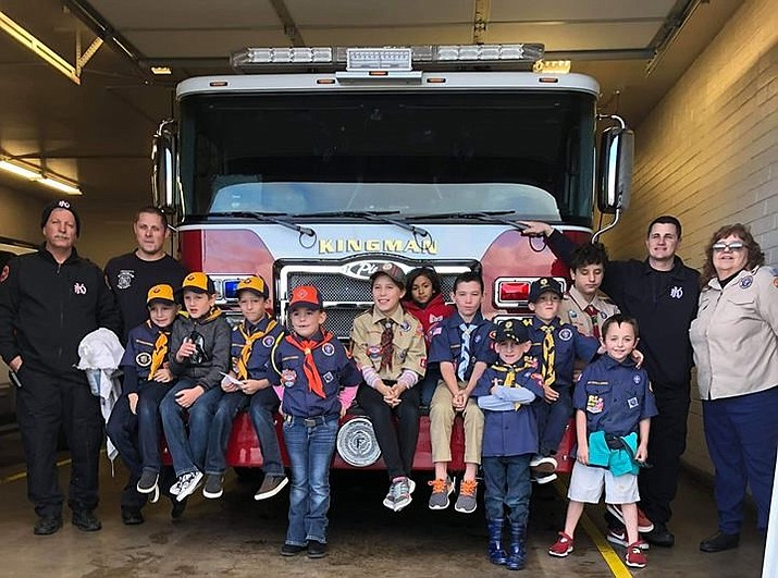 Cub Scout Pack 468 made a trip to Kingman Fire Department Station #2.