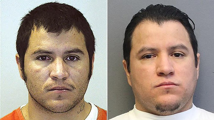 Julio Cesar Garcia-Soto (left) at the time of his arrest for the murder of his infant son in 2008. Right, Garcia-Soto today, 11 years later. (YCSO)