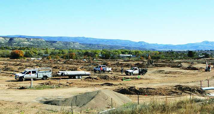 A 400-plus unit recreational vehicle site at I-17 and SR 260 in Camp Verde currently is under construction. VVN/Bill Helm