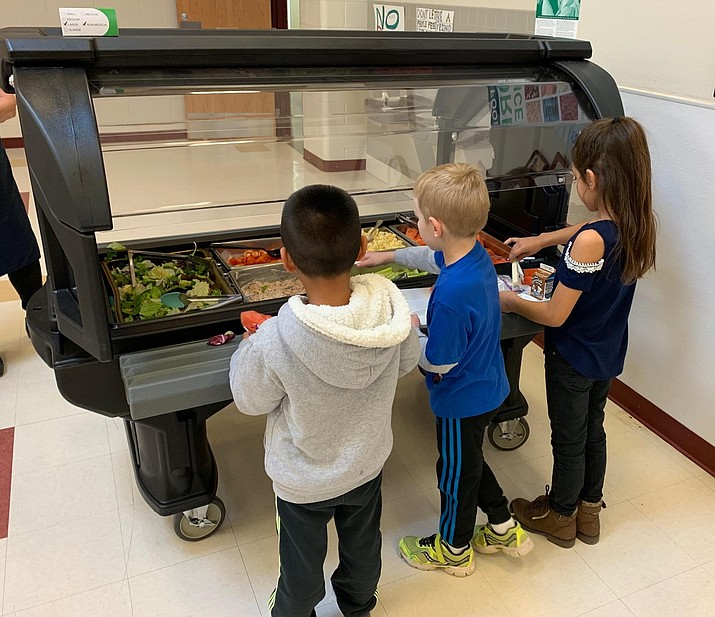 Beaver Creek School recently received a salad bar for its cafeteria. Photo courtesy Beaver Creek School District