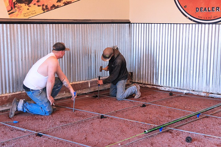 Cruiser's Route 66 Cafe in downtown Williams is completing renovations on its restaurant and gift shop. Upgrades include a complete floor replacement. Renovations will be completed within the next several months. (Wendy Howell/WGCN)
