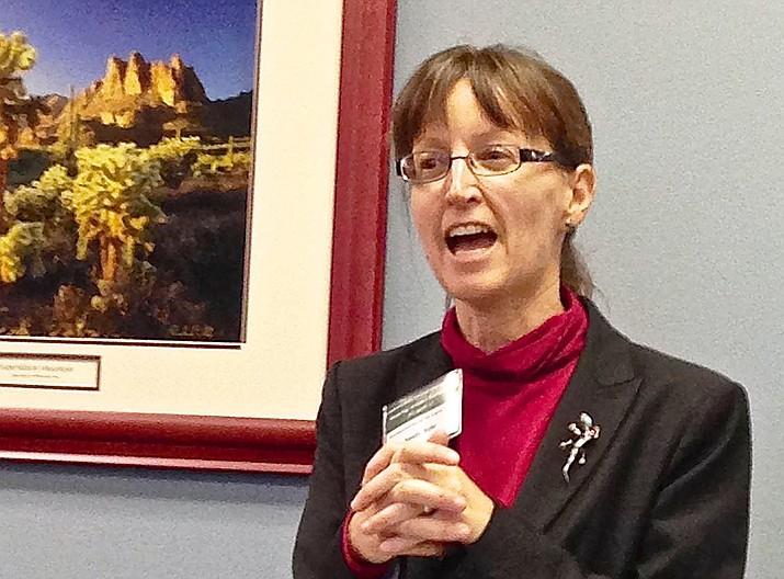 Sandy Bahr speaks at the Arizona State Capitol last year. (Yavapai Group Sierra Club/Courtesy)