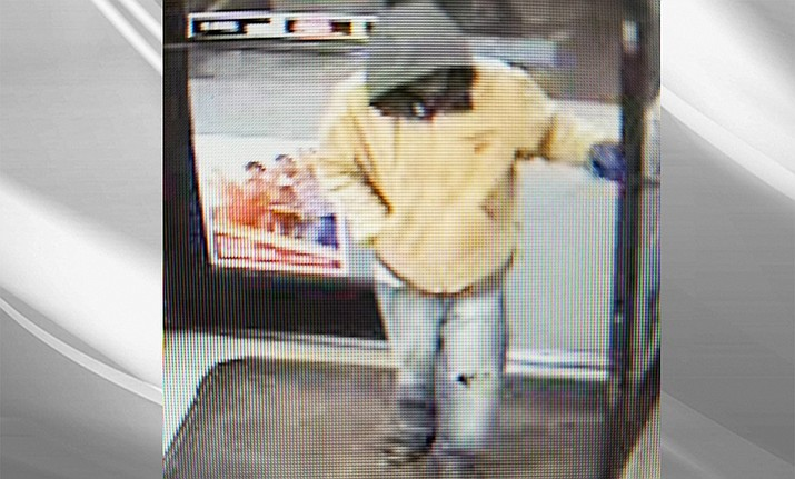 A suspect is being sought by the Winslow Police Department in regards to the armed robbery and attempted homicide Jan. 16 at the Circle K in Winslow. (Photo/Winslow Police Department)