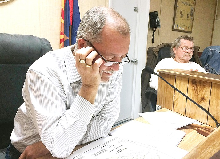 Though Camp Verde Town Council rejected B.J. Davis's bid Wednesday to continue with the Planning and Zoning Commission, they did appoint the former commission chairman to the Board of Adjustments and Appeals. VVN/Bill Helm