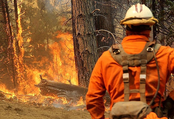 Clearing and thinning projects and planned burns on federal land that could lessen fire danger by weeding out flammable debris also are largely on hold in California, Oregon and elsewhere. (U.S. Forest Service photo)