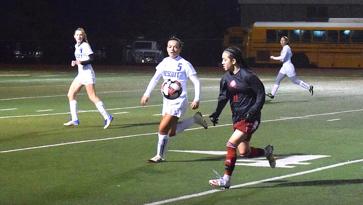 Own goal dooms Mingus girls in rainy loss to No. 5 Prescott