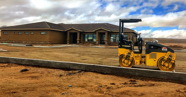 Residential construction continues along Glassford Hill Road as part of Prescott Valley's development growth. (George Johnston/Courtesy)
