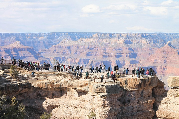 More than 5 million visitors flocked to Grand Canyon National Park's South Rim in 2018. This year marks the centennial of the National Park Service. (Loretta Yerian/NHO)