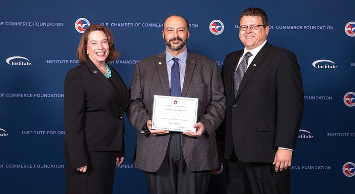 Cottonwood Chamber of Commerce President Christian Oliva del Rio has graduated from the Institute for Organization Management, the professional development program of the U.S. Chamber of Commerce Foundation. Courtesy photo