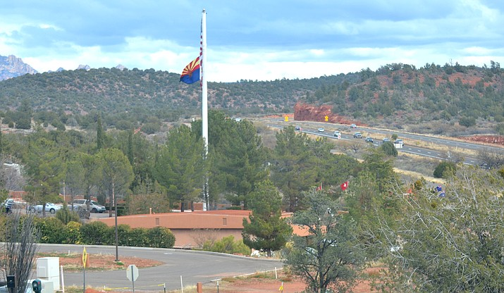 A new FirstNet cell tower will be located near this existing cell tower in the Sedona Pines retirement community. VVN Vyto Starinskas
