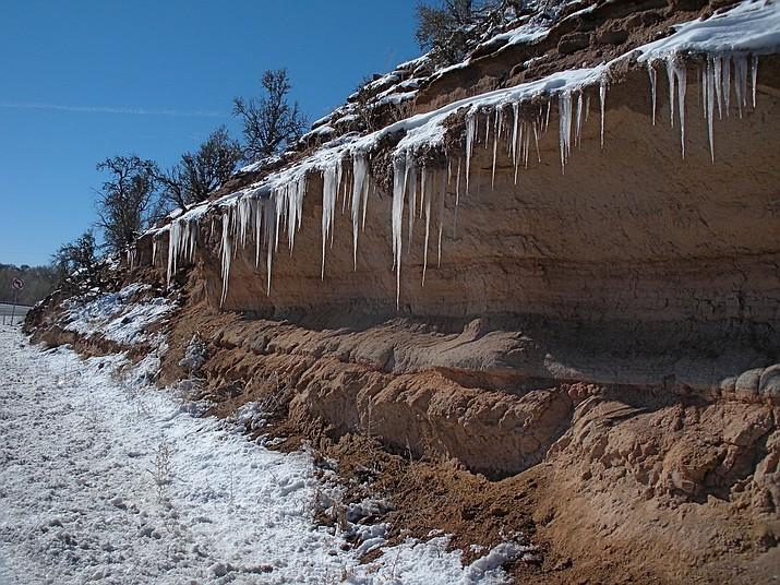 Amazing roadside icicles. (Nigel Reynolds/Courtesy)