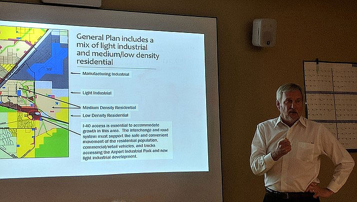 Don Schejeldahl of DSG Advisors presented his thoughts on the future of economic development at the Kingman Airport and Industrial Park when Chabin Concepts spoke to a small group of citizens in October. (Daily Miner file photo)