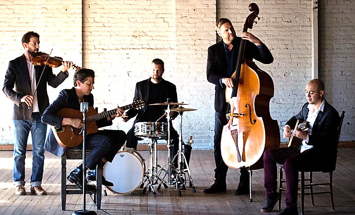 Black Market Trust combines the sounds of the great American crooners and vocal groups with the romantic Eastern European fire and energy of gypsy jazz guitarist Django Reinhardt. Through their handsome vocals and timeless melodies, the band fuses unforgettable classics with elements of pop.