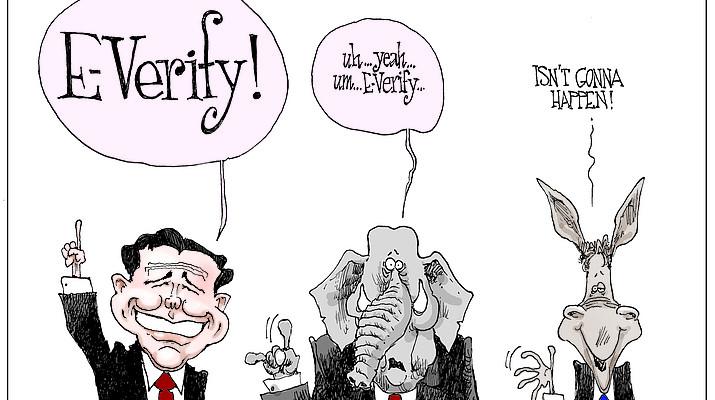 Editorial cartoon (2): Jan. 22, 2019