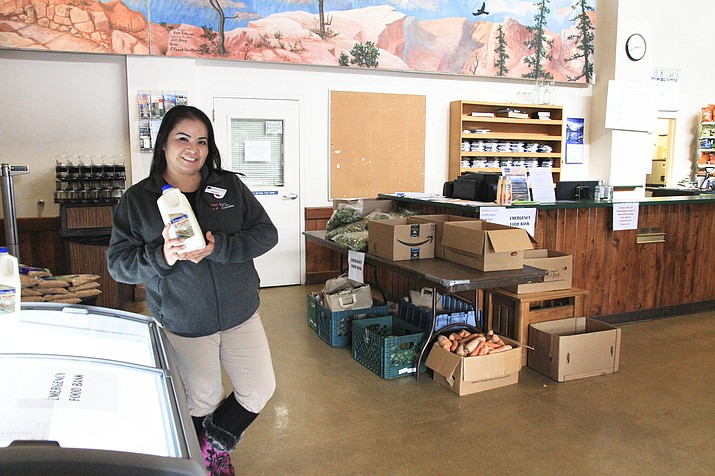 Serena Sloan has family members employed by the National Park Service and said programs like the Food Pantry that is offering assistance during the partial government shutdown have helped during a time when most federal employees are not getting paid. (Loretta Yerian/WGCN)