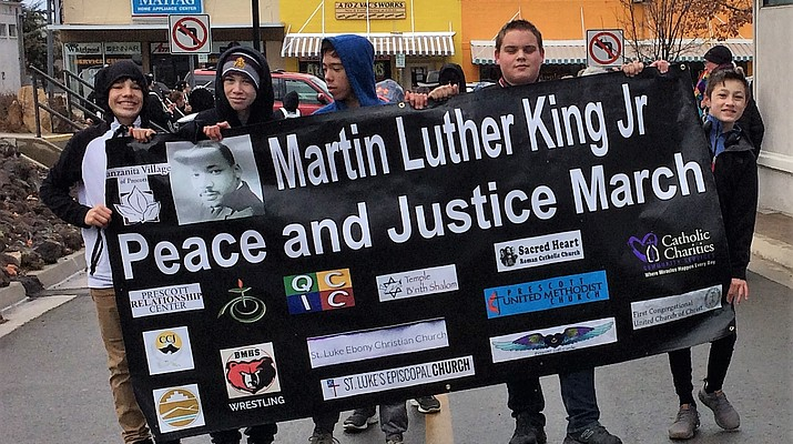 Young wrestlers, drumline  participate in MLK Day March