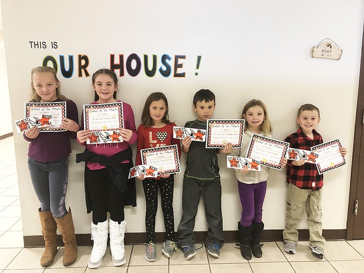 Williams schools recently announced its Students of the Month, which include Greyson Pettit, Ella Oszust, Braydon Guzman, Ava Koronich, Danika Howe and Lexy Oszust. (Photo/Williams Elementary-Middle School)
