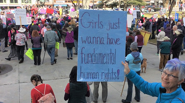 Supporters of women's rights, equality for all marched Saturday