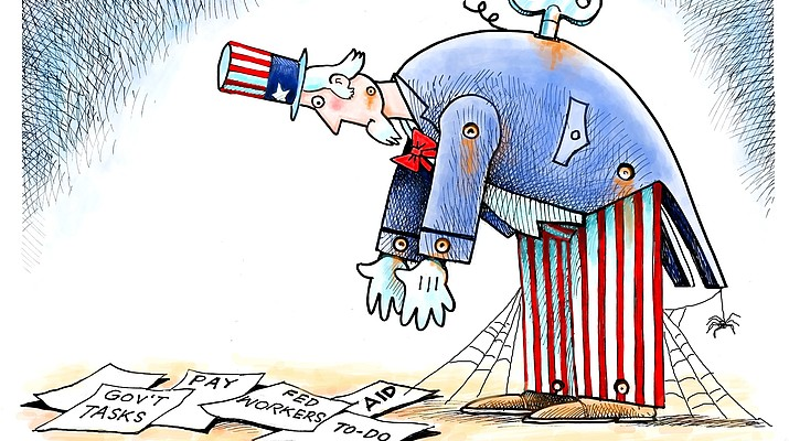 Editorial cartoon (2): Jan. 23, 2019