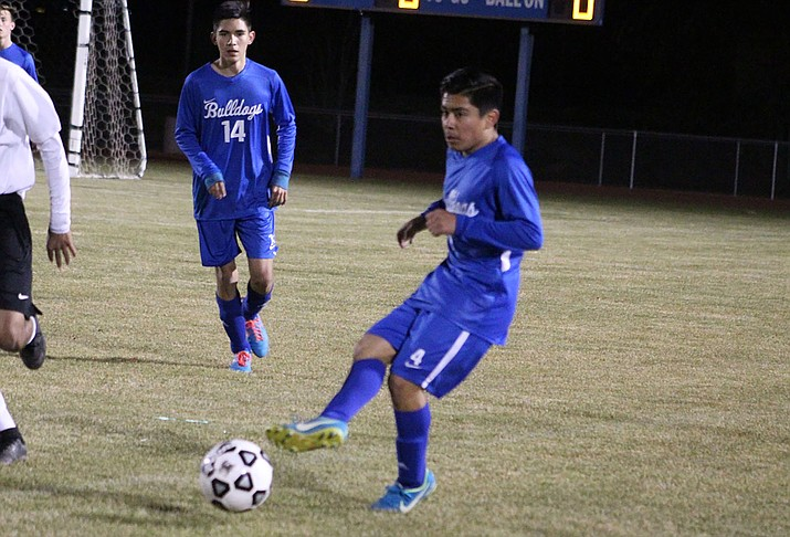 Kingman's Yahir Boo tallied the game-winning goal Tuesday night in a 4-3 victory over Parker. (Daily Miner file photo)