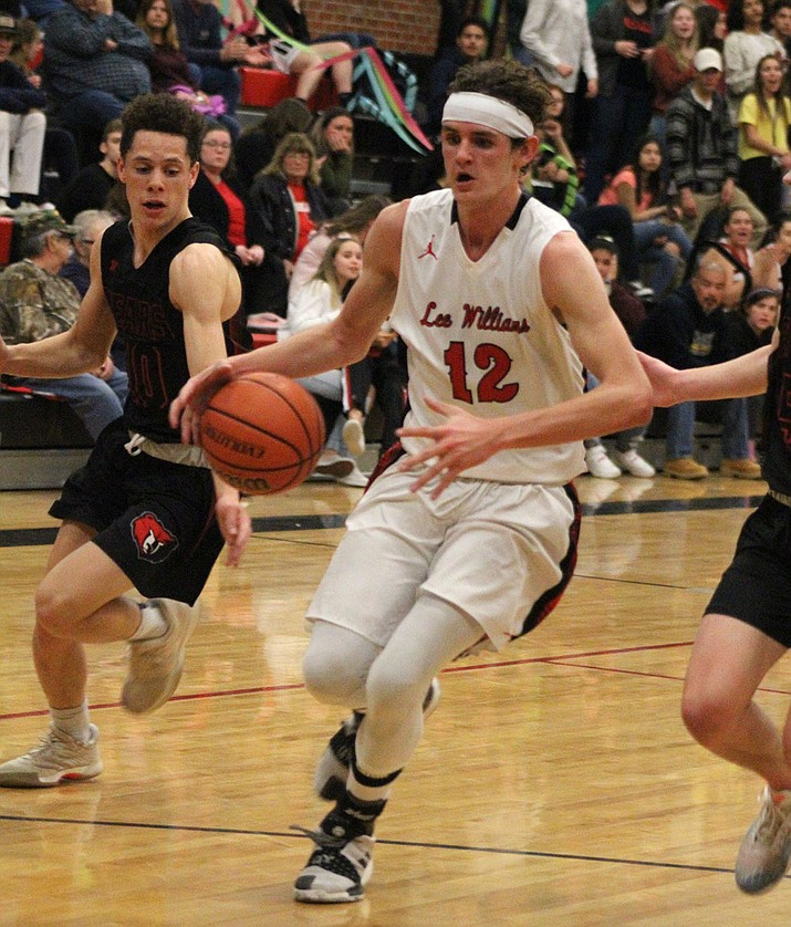 Diego Narvarte finished with six points Tuesday night in a 40-36 loss to Bradshaw Mountain. (Photo by Beau Bearden/Daily Miner)