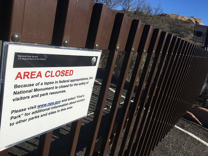 Tuzigoot National Monument gates remains closed amid partial government shutdown. VVN