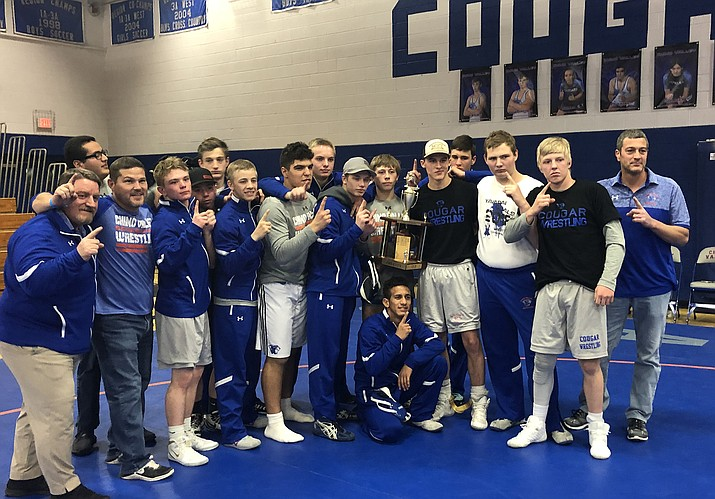 The Chino Valley Cougars pose for a team picture after their victory in the Legler Quad-City Cup. The win is their first in three seasons. (Chris Whitcomb/Courier)