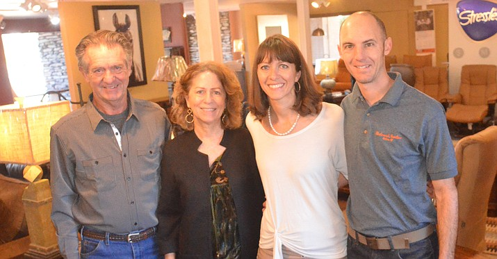 Former Blackmarr's Furniture owners Dan and Peggy Potter, left, are passing on their Sedona business to their daughter and son-in-law, Lindsay and Scott Keller. VVN/Vyto Starinskas