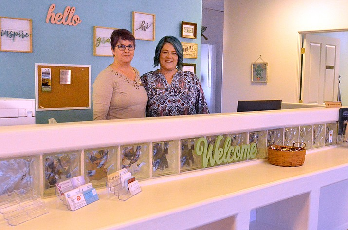 Nurse Practitioner Donna Buchanan, left, and office manager Samantha Moody at the new Sanctuary Cove Healthcare in Cottonwood. VVN/Vyto Starinskas
