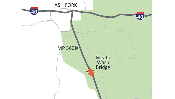 A 10-month project to replace the bridge over Meath Wash in Yavapai County is set to begin next week. The bridge will close in early March and remain closed for about six months. (ADOT)