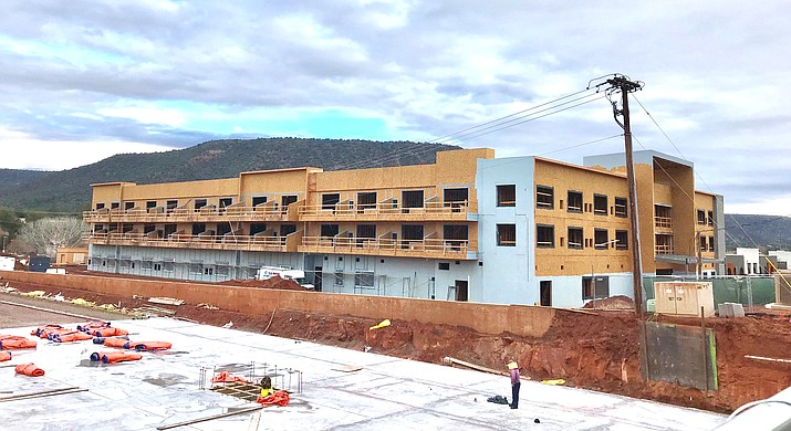 "The Sedona Vista Village retail area is scheduled to be a completed as a  ""brand new"" shopping center in May 2019. In September 2019, the hotel is scheduled to be completed and opened. Photo by Gail Simpson"