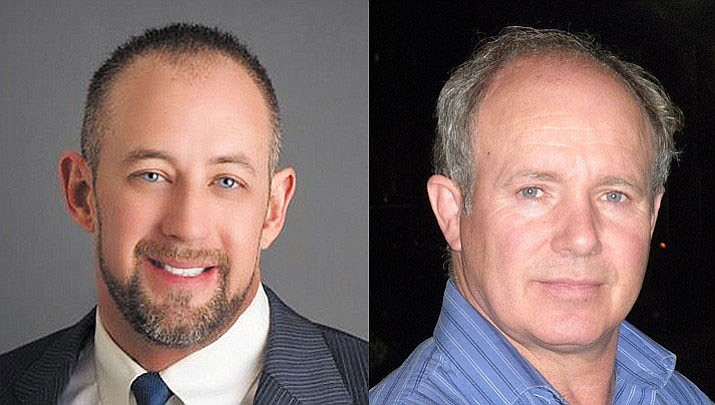 Vice Mayor Travis Lingenfelter and Steve Robinson