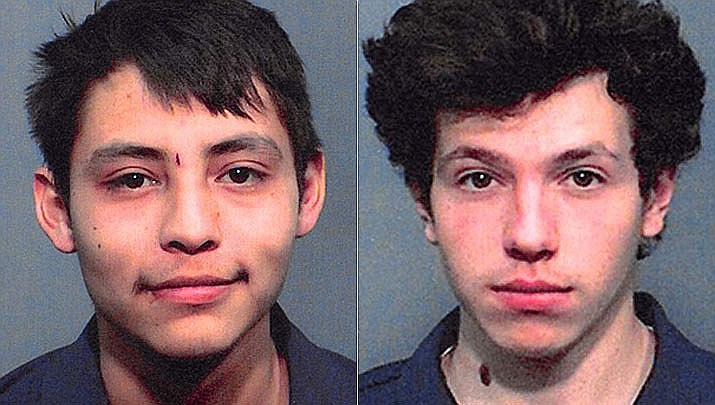 Marcus Gishal, 20, left, was pronounced dead at the scene of a shooting in Flagstaff involving DPS troopers. Preston Oszust, 20, was taken to a hospital with critical injuries. Both men are from Flagstaff. (DPS/Courtesy)
