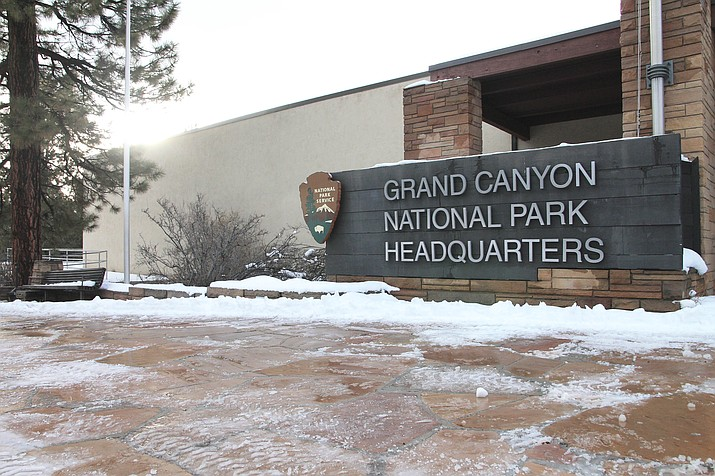 Grand Canyon National Park headquarters is now open after a temporary deal to fund the government through Feb. 15. (Loretta Yerian/WGCN)