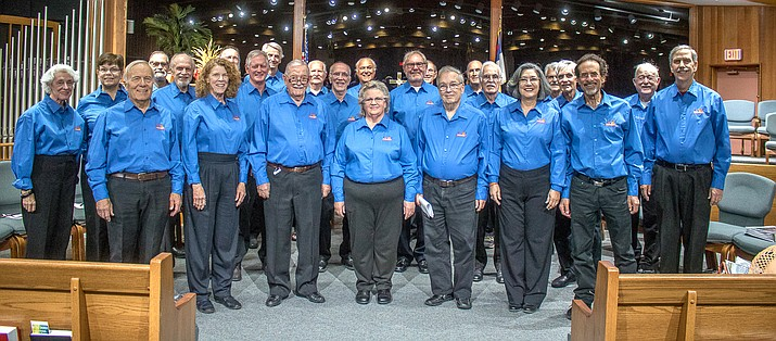 Harmony on the Rocks is Sedona's chapter of the Barbershop Harmony Society.The group will bring Singing Valentines to Sedona and the Verde Valley again this year. Courtesy photo