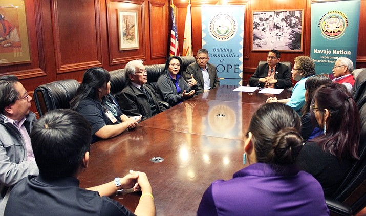 During his first week in office, Navajo Nation President Jonathan Nez signed an executive order declaring suicide prevention week to take place in September. (Photo/Office of the President and Vice President)